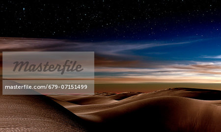 Desert at night. Stock Photo - Premium Royalty-Free, Image code: 679-07151499