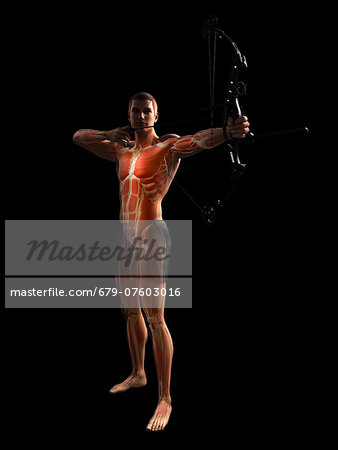 Archer, computer artwork. Stock Photo - Premium Royalty-Free, Image code: 679-07603016