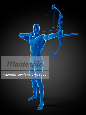 Archer, computer artwork. Stock Photo - Premium Royalty-Free, Image code: 679-07603020