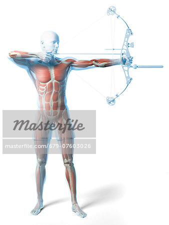 Archer, computer artwork. Stock Photo - Premium Royalty-Free, Image code: 679-07603026