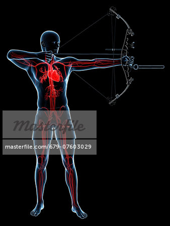 Archer, computer artwork. Stock Photo - Premium Royalty-Free, Image code: 679-07603029