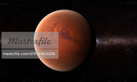 Mars, computer artwork. Stock Photo - Premium Royalty-Free, Image code: 679-07603225