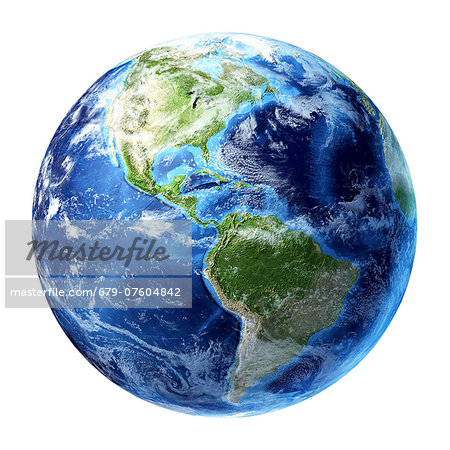 Americas, computer artwork. Stock Photo - Premium Royalty-Free, Image code: 679-07604842