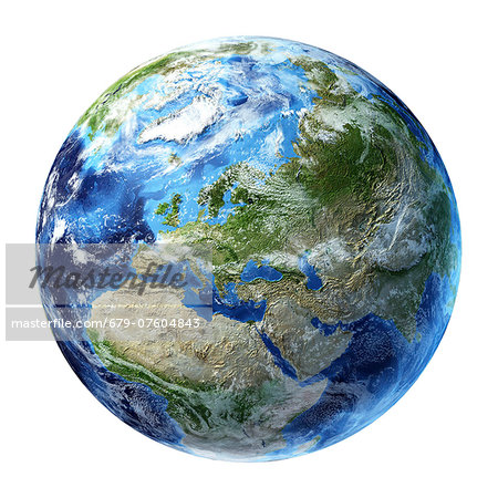 Europe, computer artwork. Stock Photo - Premium Royalty-Free, Image code: 679-07604843