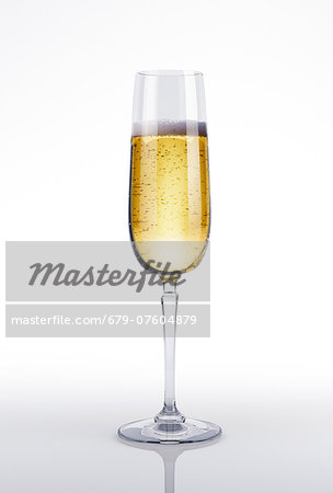 Glass of champagne, computer artwork. Stock Photo - Premium Royalty-Free, Image code: 679-07604879