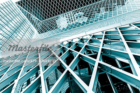 Glass and steel building, abstract. Stock Photo - Premium Royalty-Free, Image code: 679-07608213