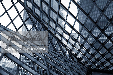 Glass and steel building, abstract. Stock Photo - Premium Royalty-Free, Image code: 679-07608214