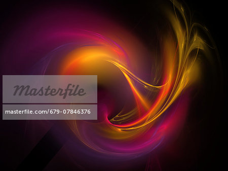 Light pattern, computer artwork. Stock Photo - Premium Royalty-Free, Image code: 679-07846376
