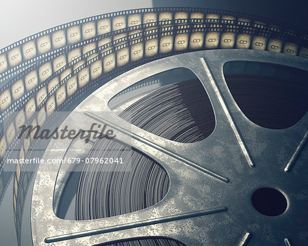 Old fashioned movie reel, computer illustration. Stock Photo - Premium Royalty-Free, Image code: 679-07962041