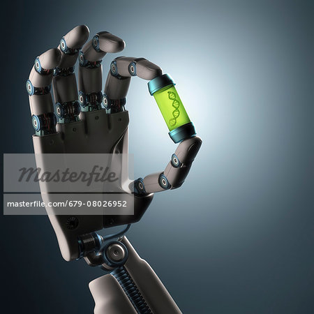 Robotic hand, illustration Stock Photo - Premium Royalty-Free, Image code: 679-08026952