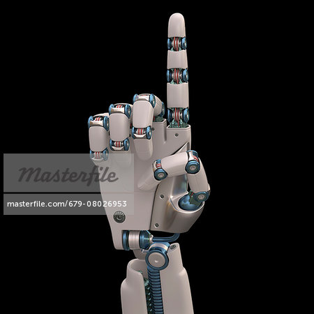 Robotic hand, illustration Stock Photo - Premium Royalty-Free, Image code: 679-08026953