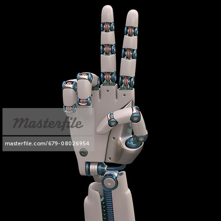 Robotic hand, illustration Stock Photo - Premium Royalty-Free, Image code: 679-08026954