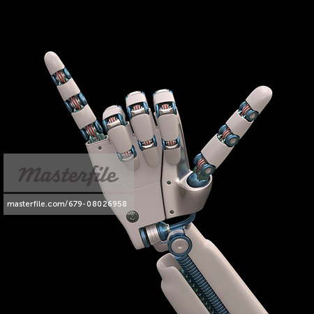 Robotic hand, illustration Stock Photo - Premium Royalty-Free, Image code: 679-08026958