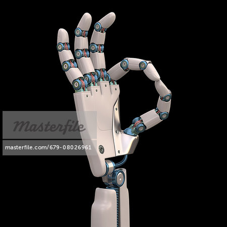 Robotic hand, illustration Stock Photo - Premium Royalty-Free, Image code: 679-08026961