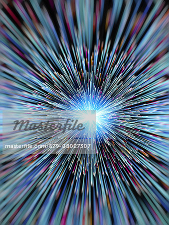 Particle rays, artwork Stock Photo - Premium Royalty-Free, Image code: 679-08027307