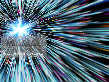 Particle rays, artwork Stock Photo - Premium Royalty-Free, Image code: 679-08027311