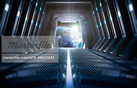 Space station interior, computer illustration. Stock Photo - Premium Royalty-Free, Image code: 679-08121836