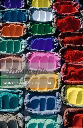Brightly Coloured Powdered Dyes Stock Photo - Premium Royalty-Free, Image code: 682-02896514