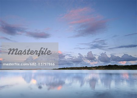 Reflected clouds in shoreline estuary system, St Lucia, Kwazulu-Natal, South Africa Stock Photo - Premium Royalty-Free, Image code: 682-03797866