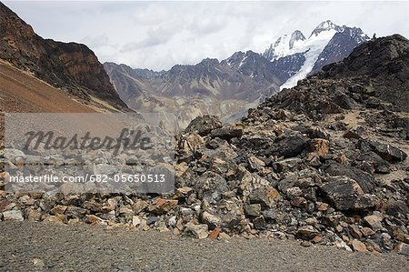 View over igneous rocks of the Cordillera Real, Andes Mountain, Bolivia, South America Stock Photo - Premium Royalty-Free, Image code: 682-05650513