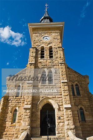Front entrance to Dutch Reformed Church, Niewoudville, Northern Cape, South Africa Stock Photo - Premium Royalty-Free, Image code: 682-05650535