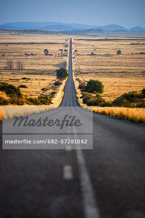 View of empty road, Free State, South Africa