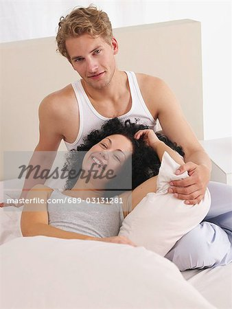 Lazy weekend in bed Stock Photo - Premium Royalty-Free, Image code: 689-03131281