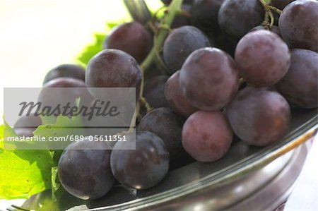 Red grapes in bowl Stock Photo - Premium Royalty-Free, Image code: 689-05611351