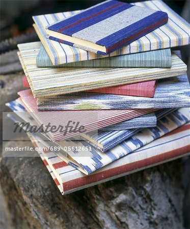 Stack of books with colorful covers Stock Photo - Premium Royalty-Free, Image code: 689-05612651