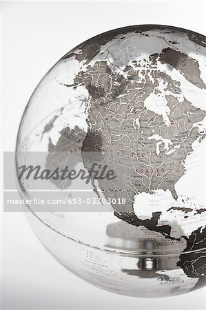 Inflatable Globe showing North America Stock Photo - Premium Royalty-Free, Image code: 693-03303018