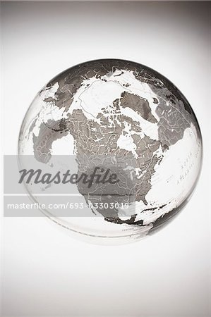 Inflatable Globe showing North America Stock Photo - Premium Royalty-Free, Image code: 693-03303019