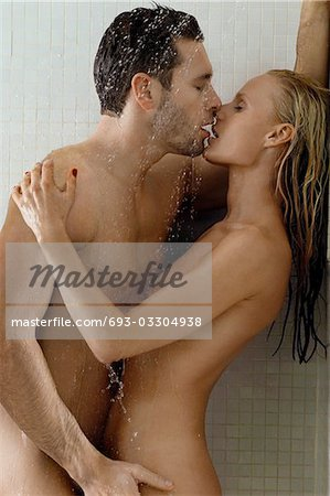 Naked Couple in Shower Stock Photo - Premium Royalty-Free, Image code: 693-03304938