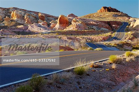 Desert road, USA Stock Photo - Premium Royalty-Free, Image code: 693-03317592