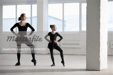 Female dancers with hands on hips Stock Photo - Premium Royalty-Free, Image code: 693-03474209
