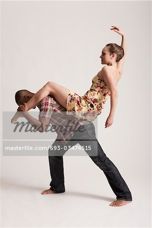 1950s jive couple Stock Photo - Premium Royalty-Free, Image code: 693-03474515