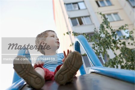 Young boy in playground Stock Photo - Premium Royalty-Free, Image code: 693-03644039