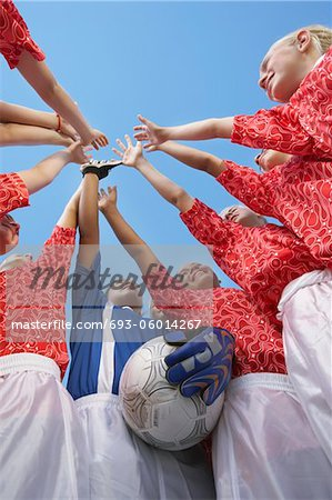 Soccer Team Before Match Stock Photo - Premium Royalty-Free, Image code: 693-06014267