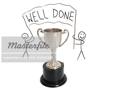 Award for winning over white background Stock Photo - Premium Royalty-Free, Image code: 693-06325183