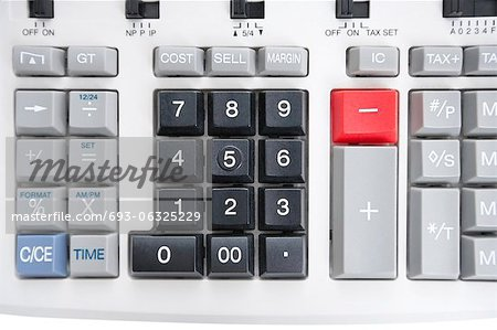 Close-up of pushbuttons of calculator Stock Photo - Premium Royalty-Free, Image code: 693-06325229
