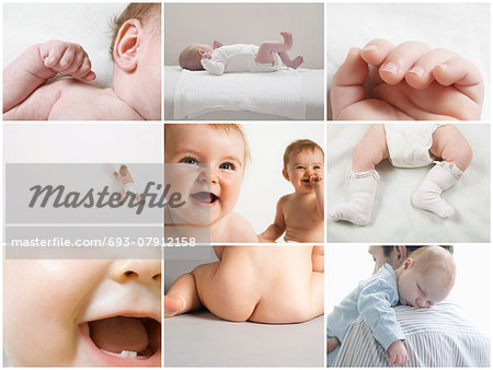 Computer imaging of baby girls and baby boys Stock Photo - Premium Royalty-Free, Image code: 693-07912158
