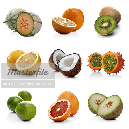 Exotic Fruits Stock Photo - Premium Royalty-Free, Image code: 693-08127435