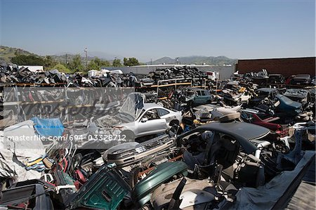 Junkyard Stock Photo - Premium Royalty-Free, Image code: 694-03328712
