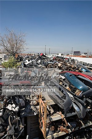 Junkyard Stock Photo - Premium Royalty-Free, Image code: 694-03328713