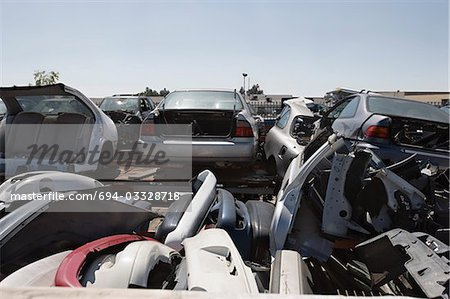 Junkyard Stock Photo - Premium Royalty-Free, Image code: 694-03328718