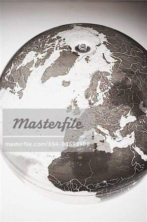 Inflatable Globe showing Northern Hemisphere Stock Photo - Premium Royalty-Free, Image code: 694-03693900