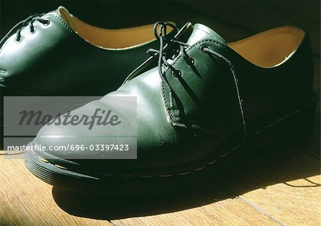 Pair of man's dress shoes. Stock Photo - Premium Royalty-Free, Image code: 696-03397423
