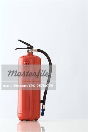 Red fire extinguisher, close-up Stock Photo - Premium Royalty-Free, Image code: 696-05780736