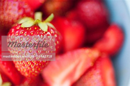 Selective focus of fresh strawberry Stock Photo - Premium Royalty-Free, Image code: 698-06443718