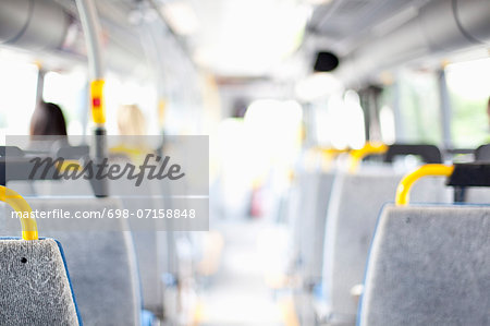 Interior of bus Stock Photo - Premium Royalty-Free, Image code: 698-07158848