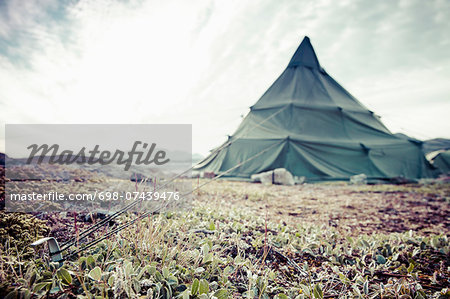 View of camping tent Stock Photo - Premium Royalty-Free, Image code: 698-07439476